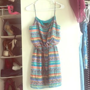 City Triangles Boho Print Dress size medium